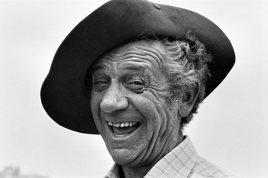 Detail of Sid James by Ron Burton