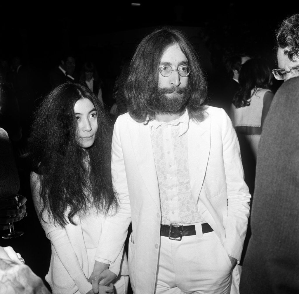 Detail of John Lennon and Yoko Ono, 1969 by Blandford