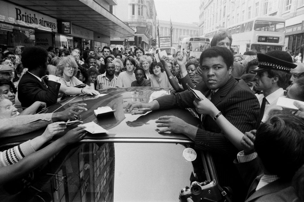 Detail of Muhammad Ali in Birmingham August 1983 by Staff