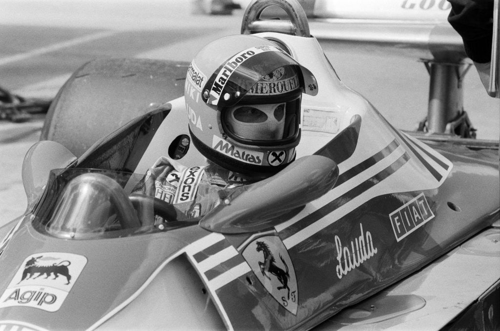 Detail of Niki Lauda, 1977 by Charlie Ley