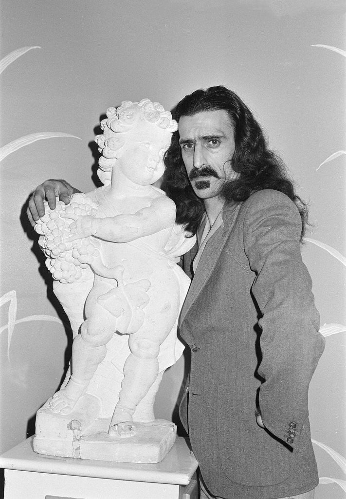 Detail of Frank Zappa pictured at The Dorchester Hotel in London. by Sidey