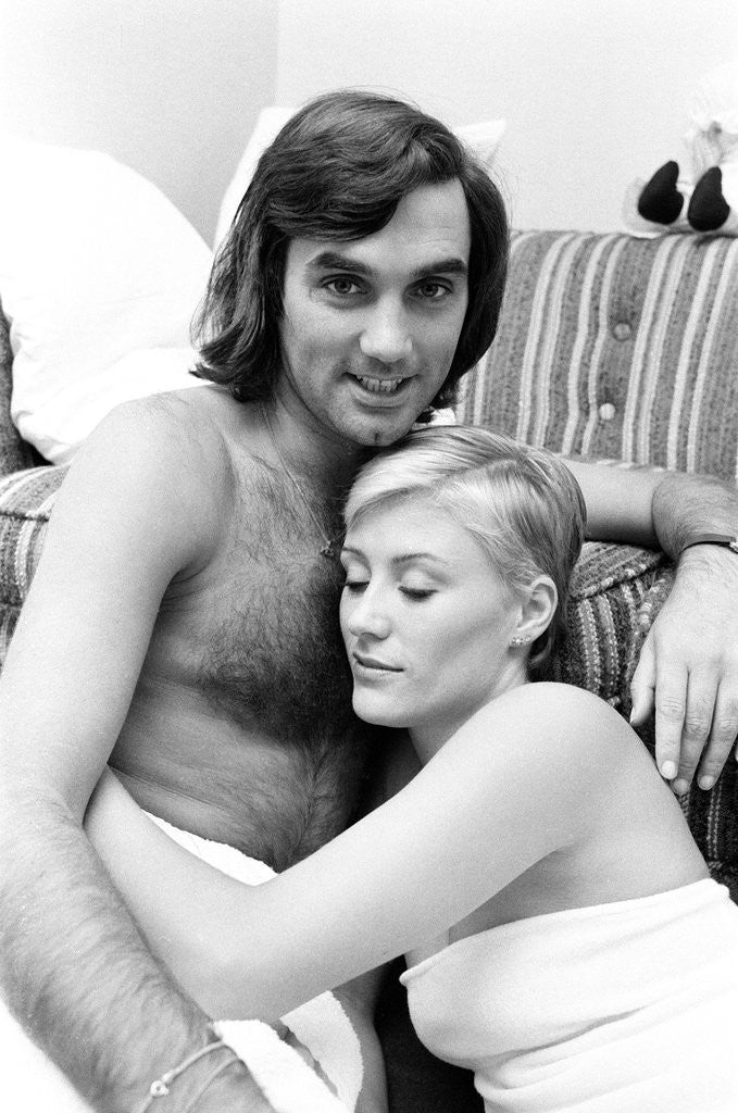 Detail of George Best and his girlfriend Angela Macdonald-James by Kent Gavin