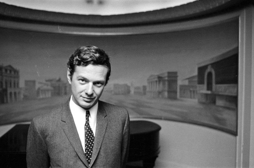 Detail of Brian Epstein pictured inside The Saville Theatre by Waters