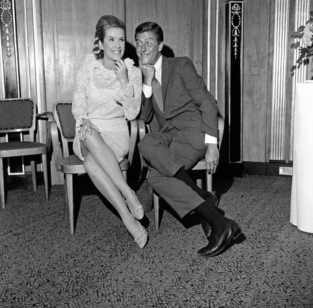 Detail of Dick Van Dyke and Sally Ann Howes at The Dorchester Hotel by Maurice Kaye