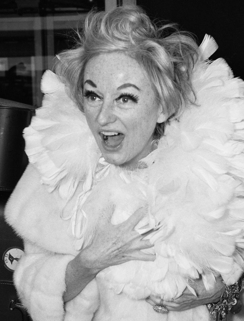Detail of Comedienne Phyllis Diller by Vic Crawshaw