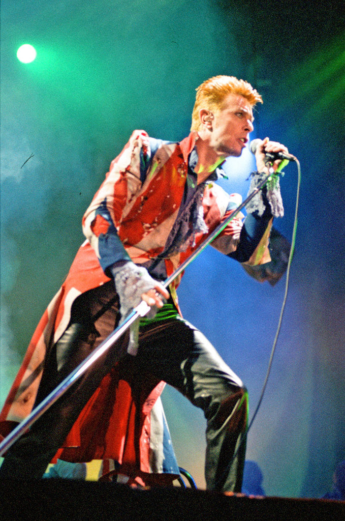 Detail of David Bowie live at The Phoenix Festival, Stratford-upon-Avon, 18th July 1996 by Staff
