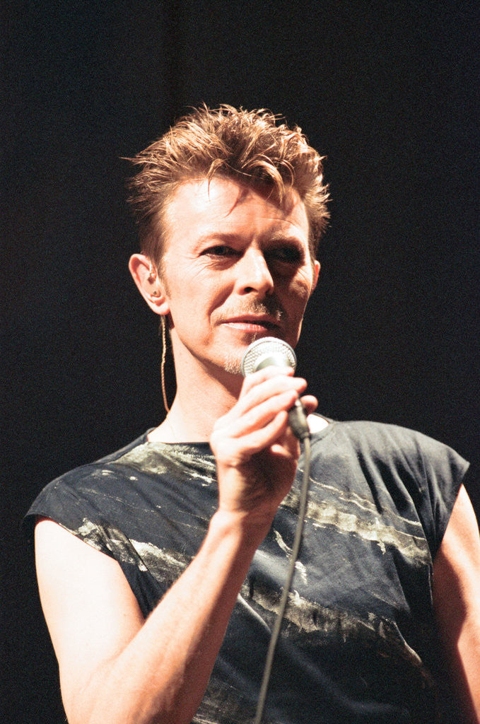 Detail of David Bowie, 1995 by Staff