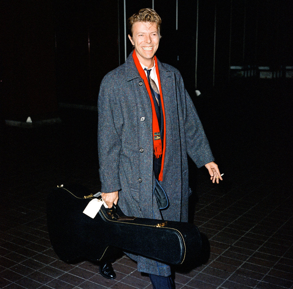 Detail of David Bowie at London Airport. by Crawshaw
