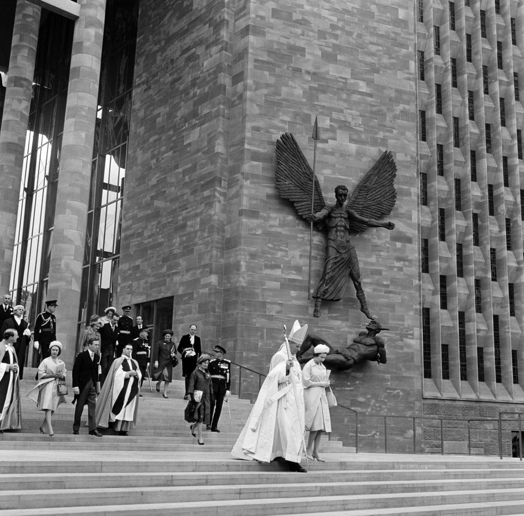 Detail of Consecration of Coventry Cathedral by Eyles