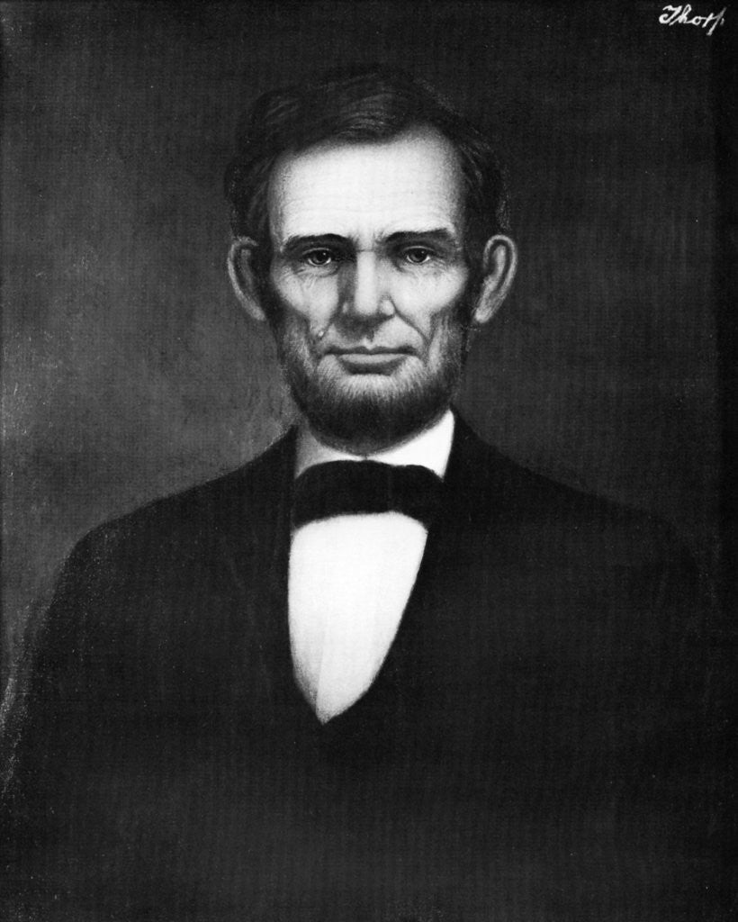 Detail of Abraham Lincoln, 16th President of the United States by Freeman Thorp