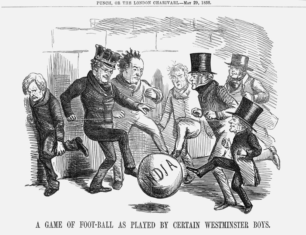 Detail of A game of foot-ball as played by certain Westminster boys by Anonymous
