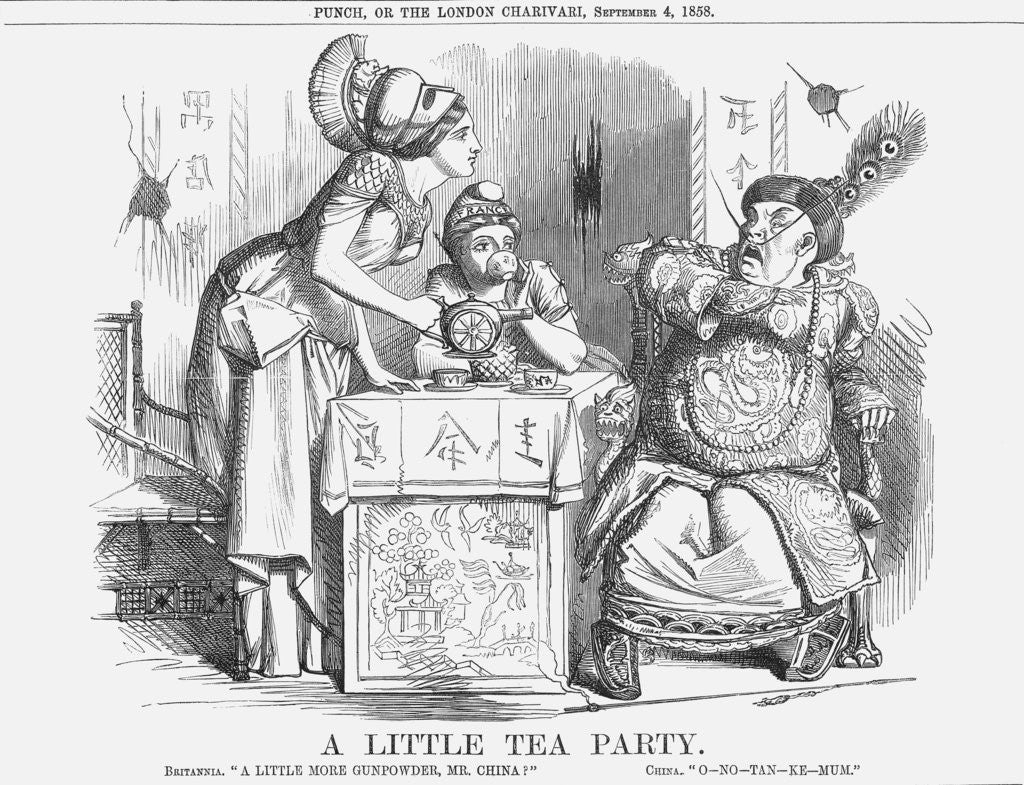 Detail of A Little Tea Party by Anonymous