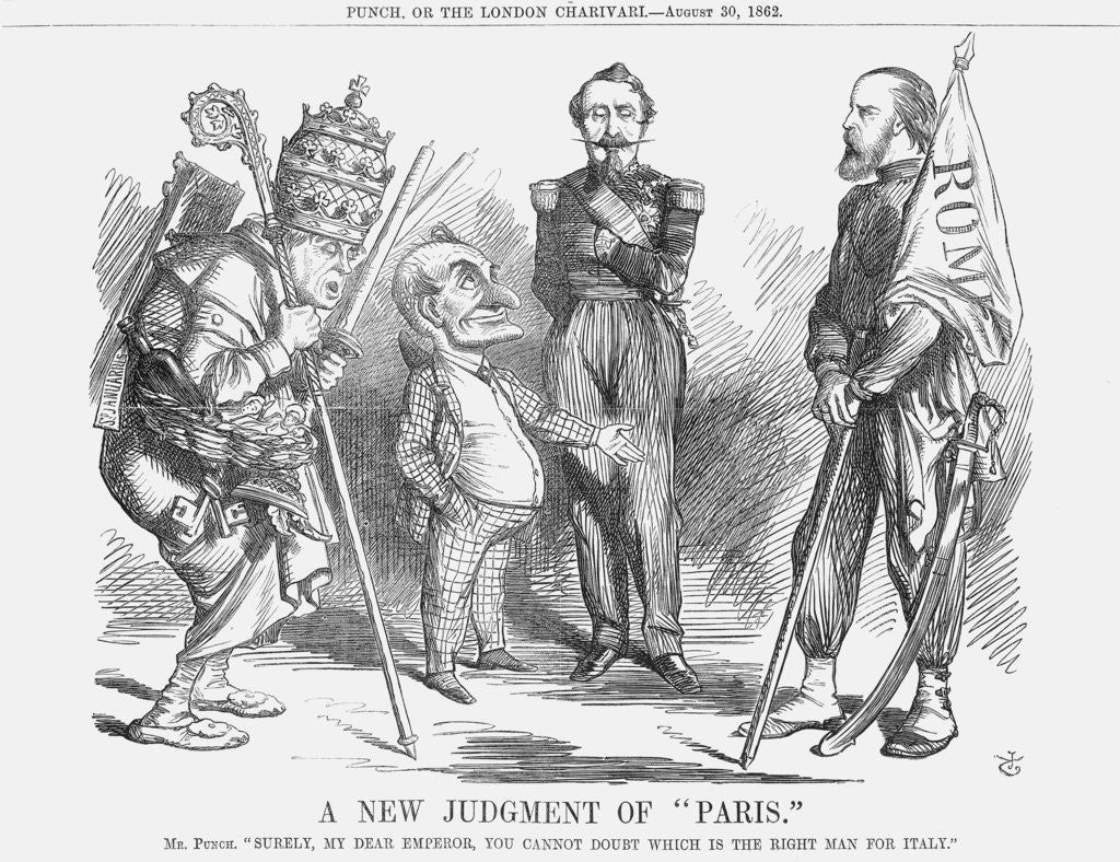 Detail of A New Judgement of Paris by John Tenniel