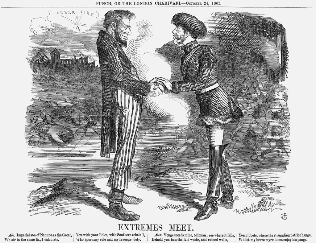 Detail of Extremes Meet by John Tenniel