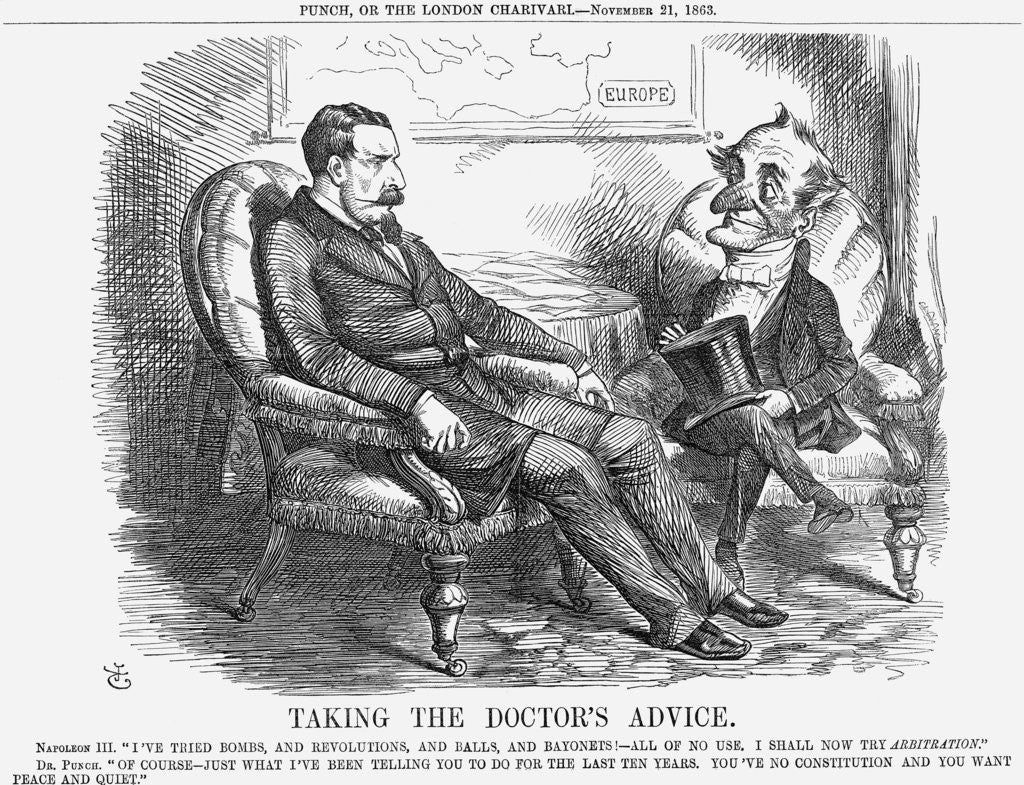 Detail of Taking The Doctor's Advice by John Tenniel