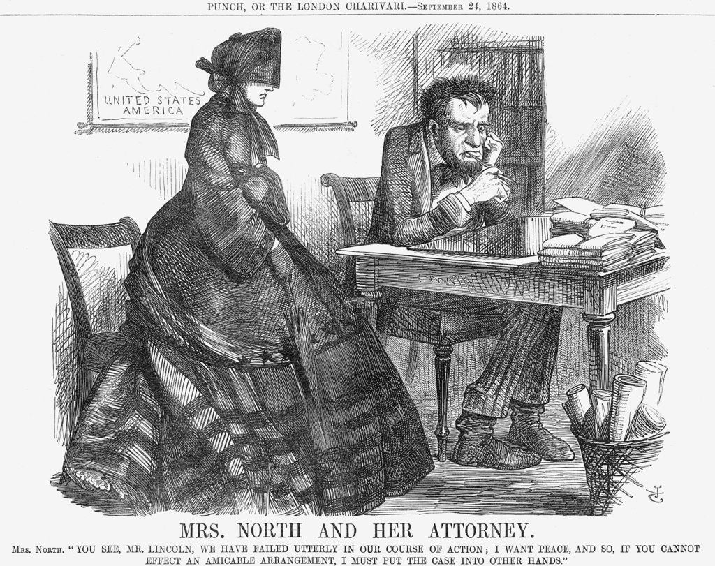 Detail of Mrs. North and Her Attorney by John Tenniel