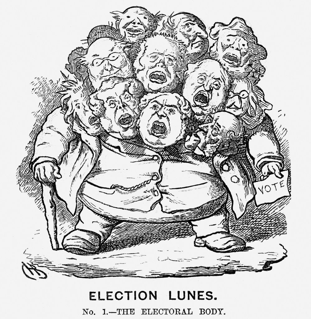 Detail of Election Lunes by Charles Henry Bennett
