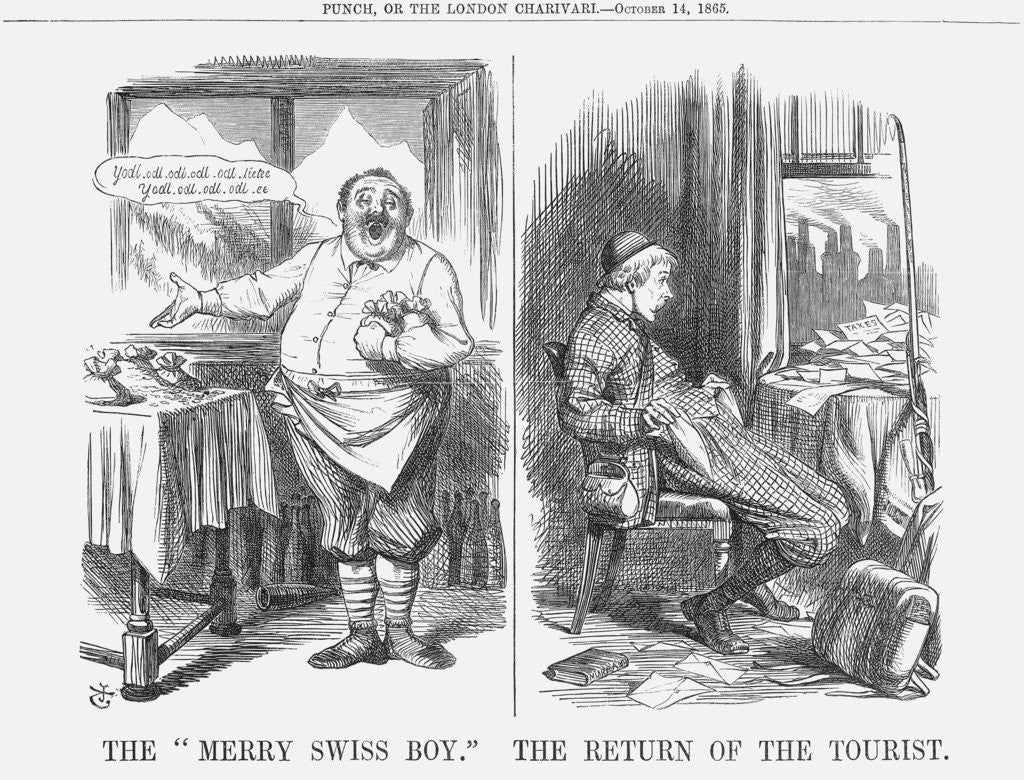 Detail of The Merry Swiss Boy The Return of the Tourist by John Tenniel