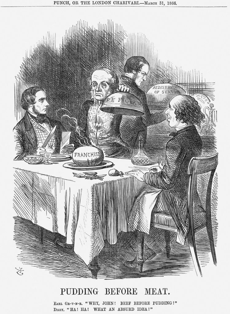 Detail of Pudding before Meat by John Tenniel