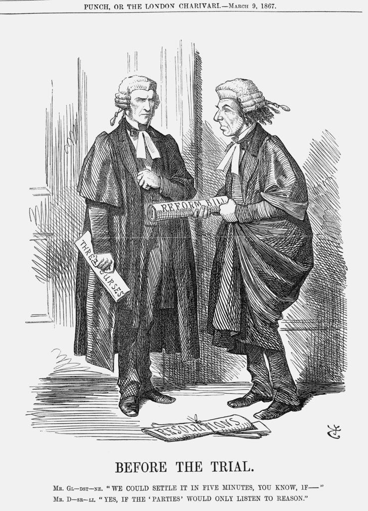 Detail of Before The Trial by John Tenniel