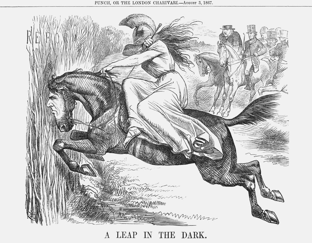 Detail of A Leap in the Dark by John Tenniel
