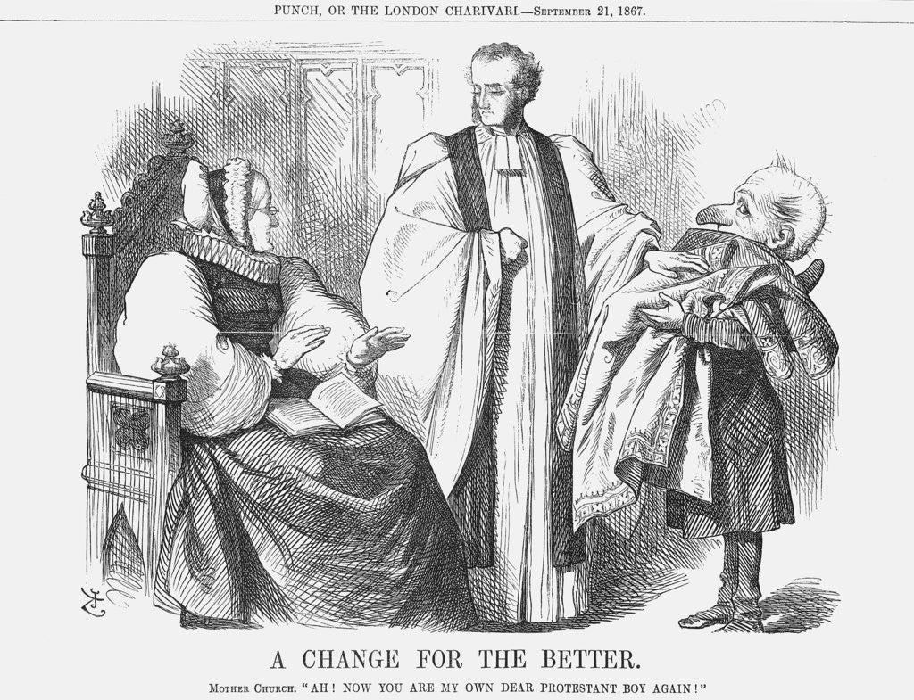 Detail of A Change for the Better by John Tenniel
