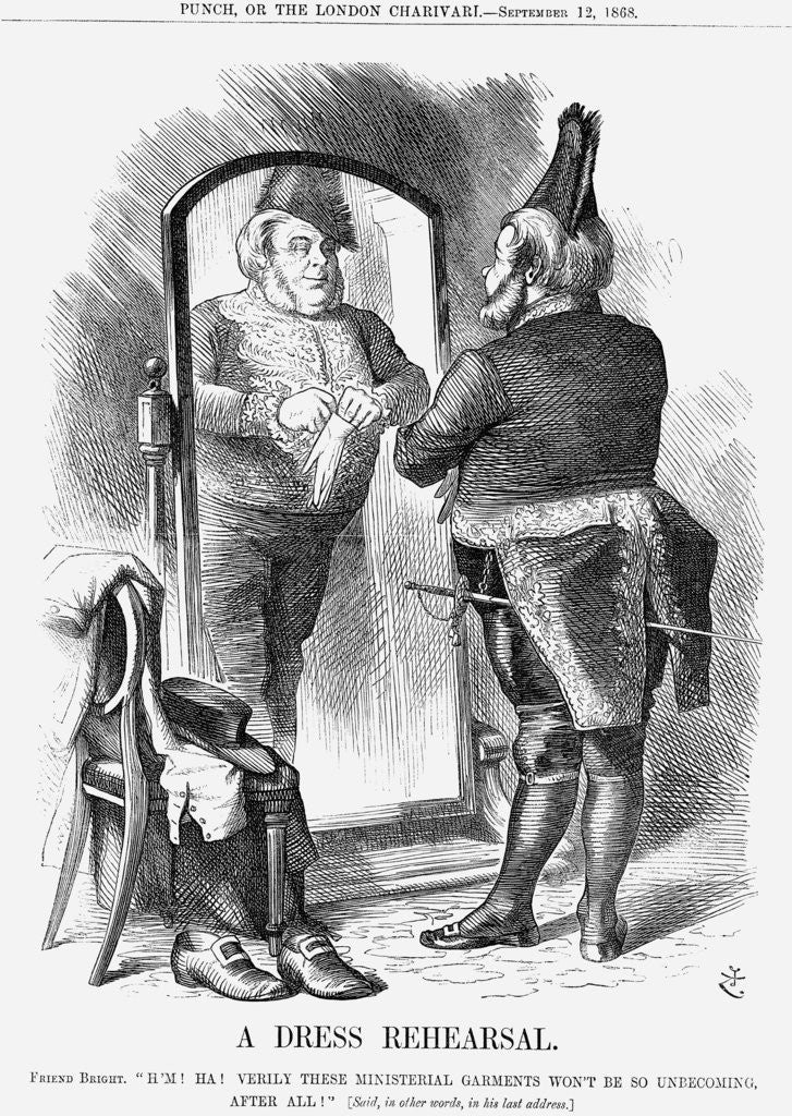 A Dress Rehearsal by John Tenniel