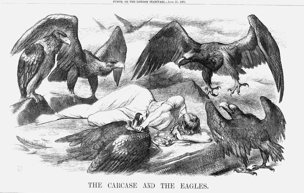 Detail of The Carcase and the Eagles by Joseph Swain