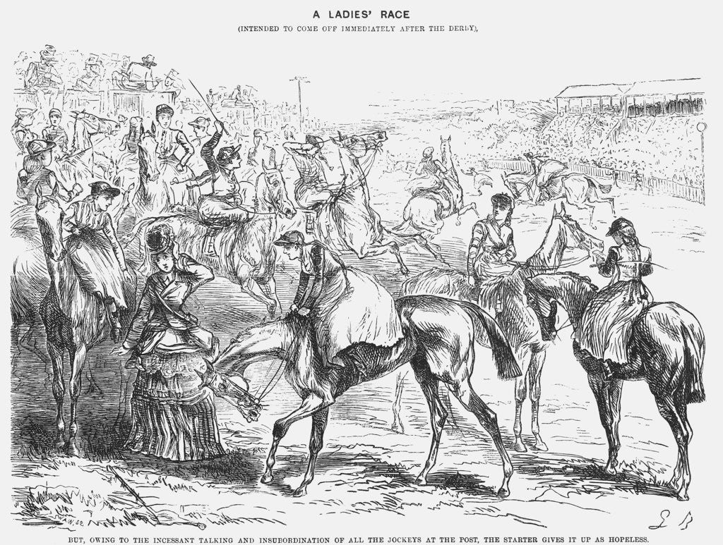 Detail of A Ladies' Race by Joseph Swain