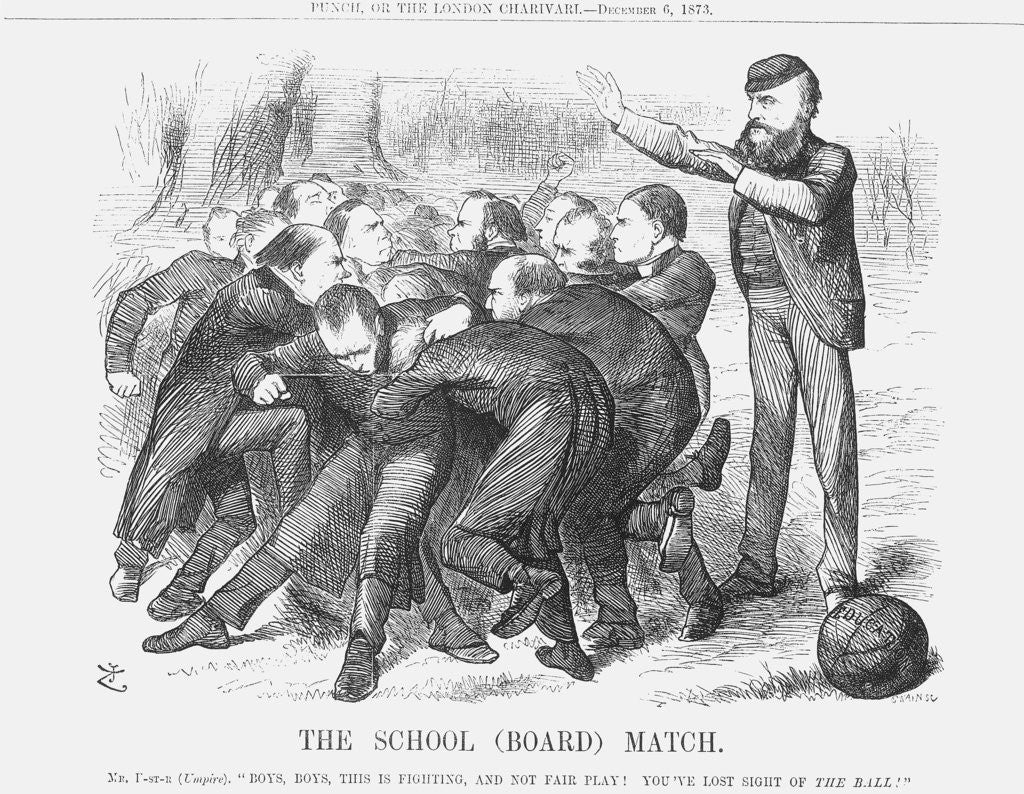 Detail of The School (Board) Match by Joseph Swain