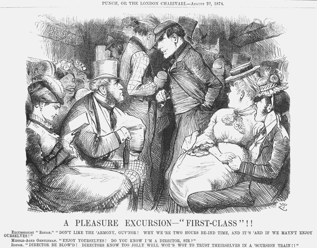 Detail of A Pleasure Excursion - First-Class! by Joseph Swain