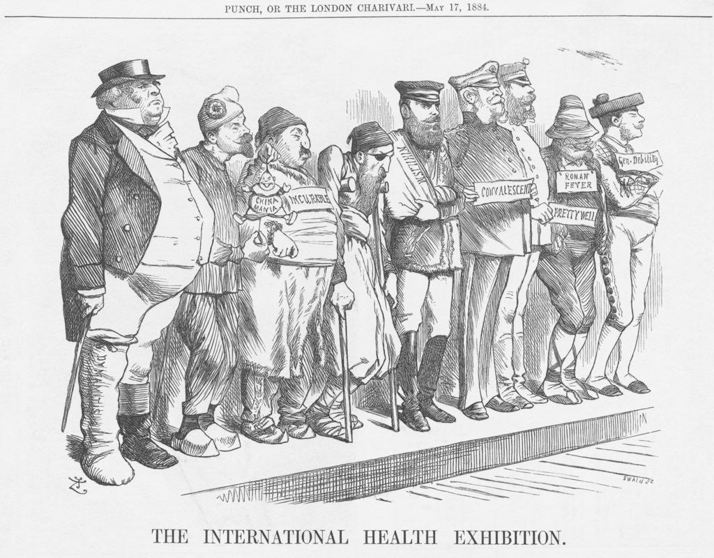 Detail of The International Health Exhibition by Joseph Swain