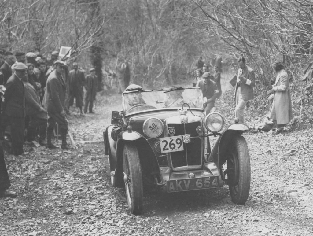 Detail of 1935 MG PA Midget on the MCC Land's End Trial by Anonymous