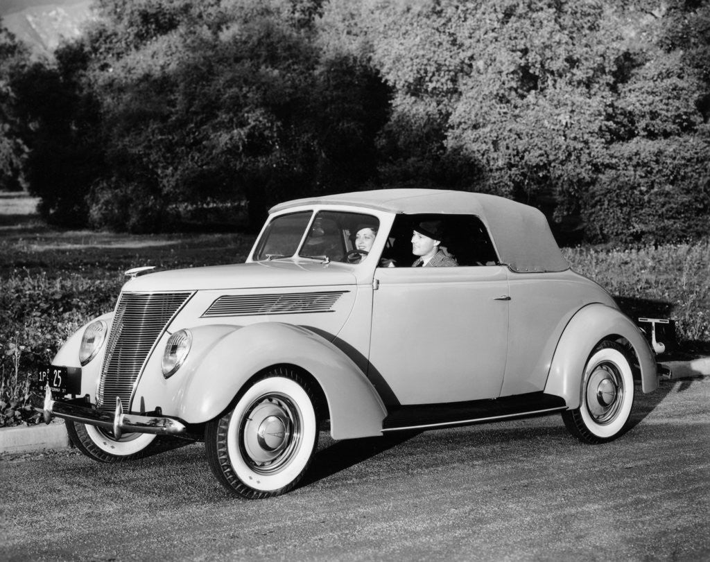 Detail of 1937 Ford V8 model 78 lub Cabriolet by Anonymous