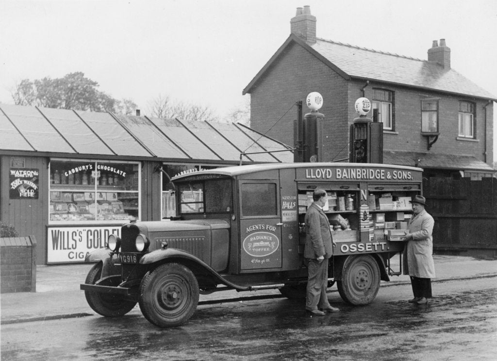 Mobile confectionery shop, a 1932 Bedford 30cwt WS lorry, (c1932?)