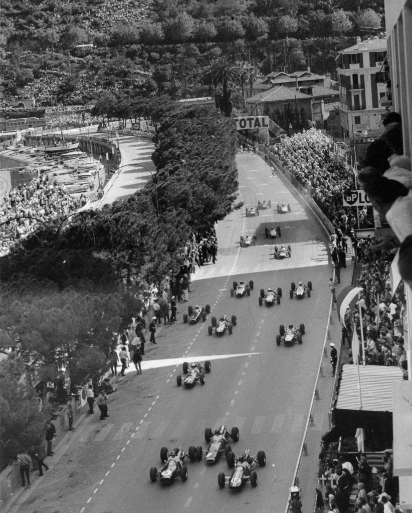 Detail of Start of the Monaco Grand Prix by Anonymous