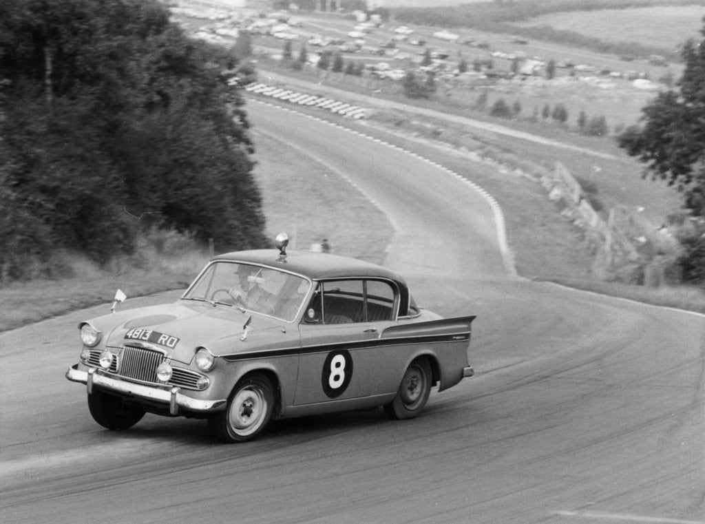 Detail of Sunbeam Rapier racing at Brands Hatch by Anonymous