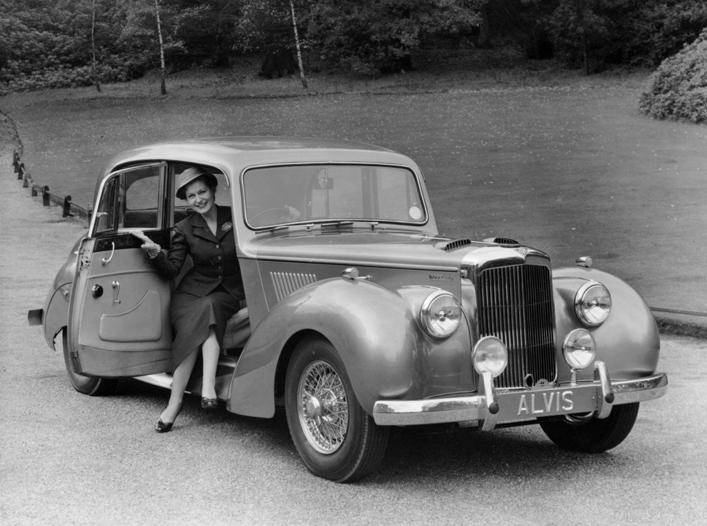 Detail of Woman in a 1954 Alvis 3 litre TC 21 by Anonymous