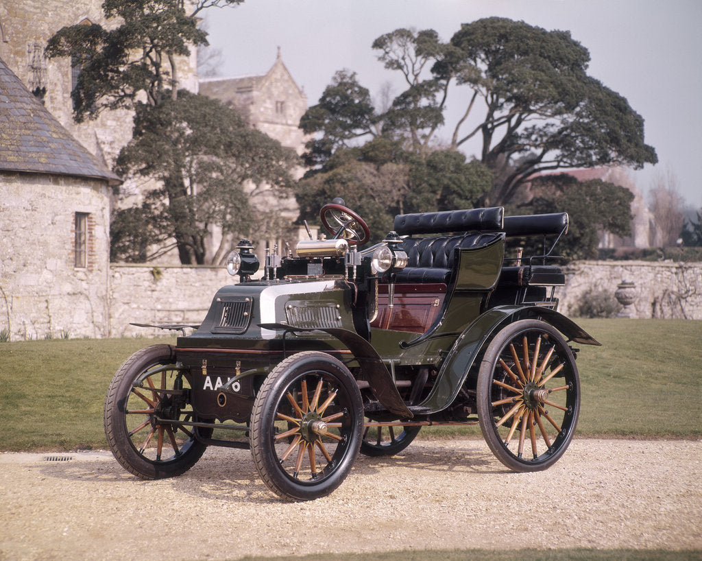 Detail of 1899 Daimler horseless carriage by Unknown