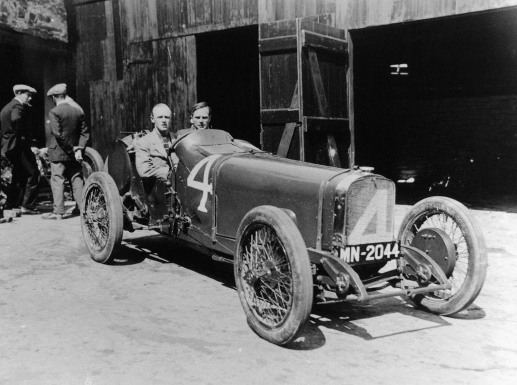 Henry Segrave in an 8 cylinder Sunbeam, Isle of Man, 1922