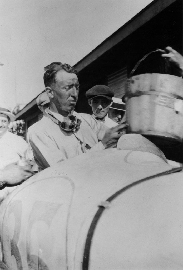 Detail of Jimmy Murphy, winner of the Indianapolis 500 by Anonymous