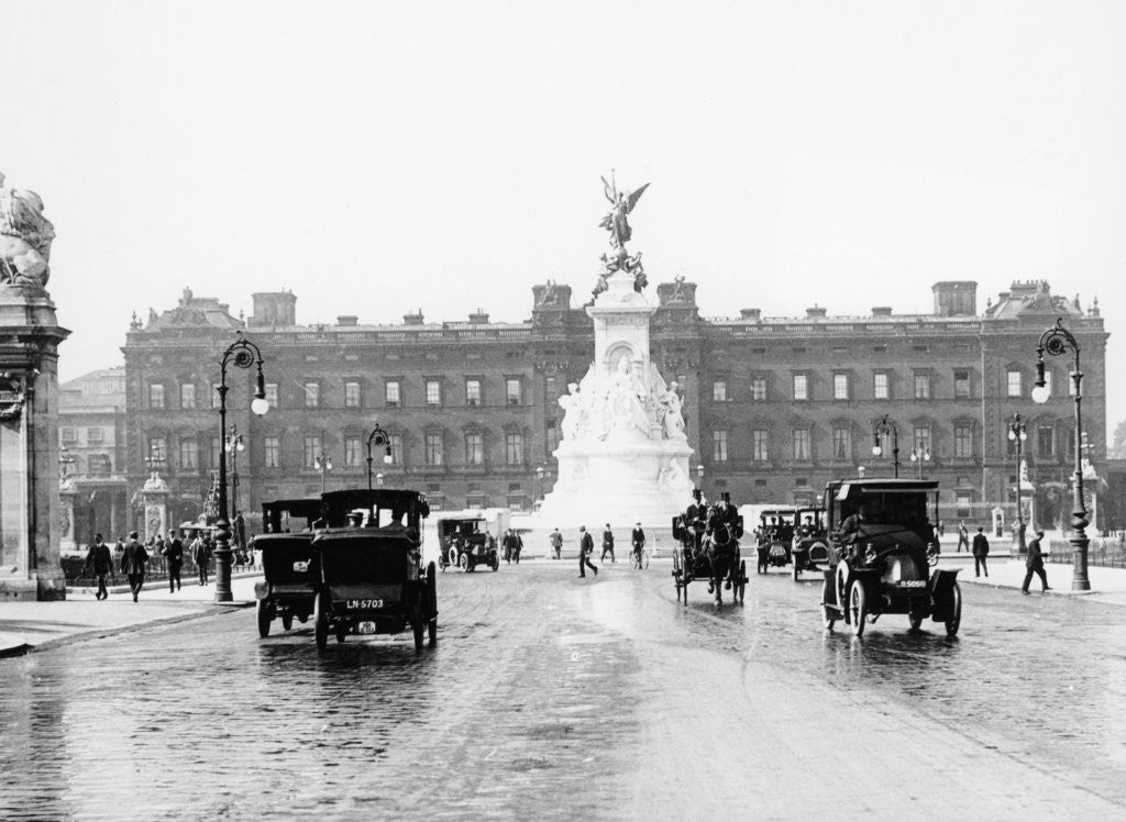 Detail of Buckingham Palace and the Mall by Anonymous