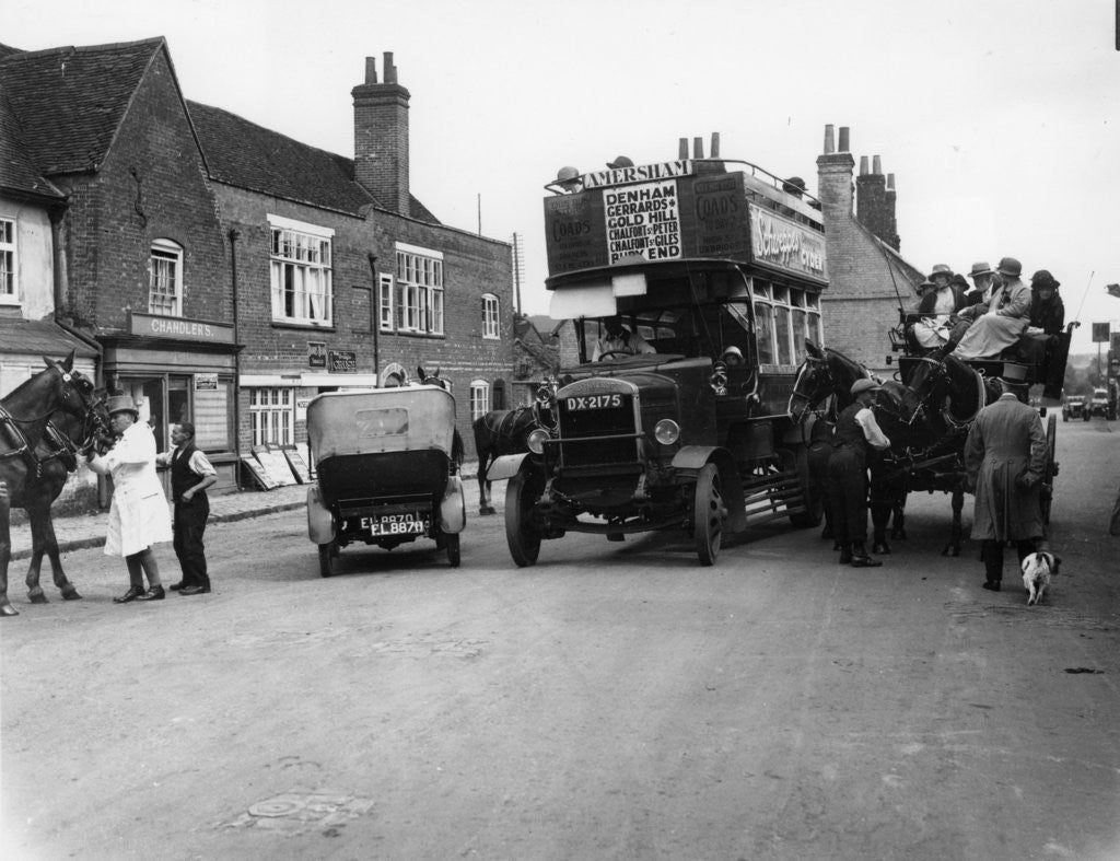 Bus on a street in Amersham by Anonymous