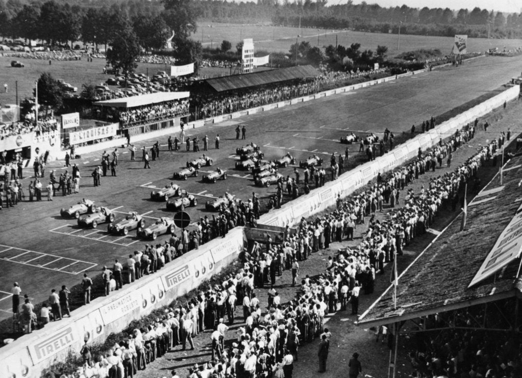 Start of the Italian Grand Prix, Monza, early 1950s
