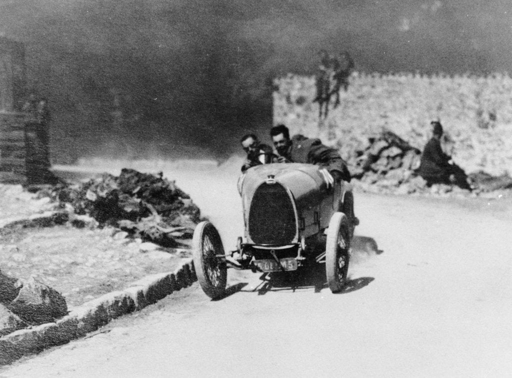 Louis Chiron driving a Bugatti at the Castellane Hill Climb, Provence, France, 1925