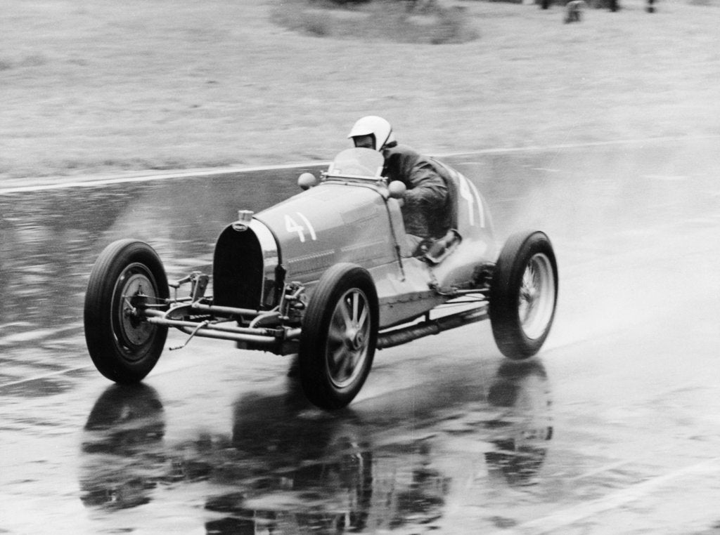 Frank Wall driving a Bugatti Type 35B, 1926