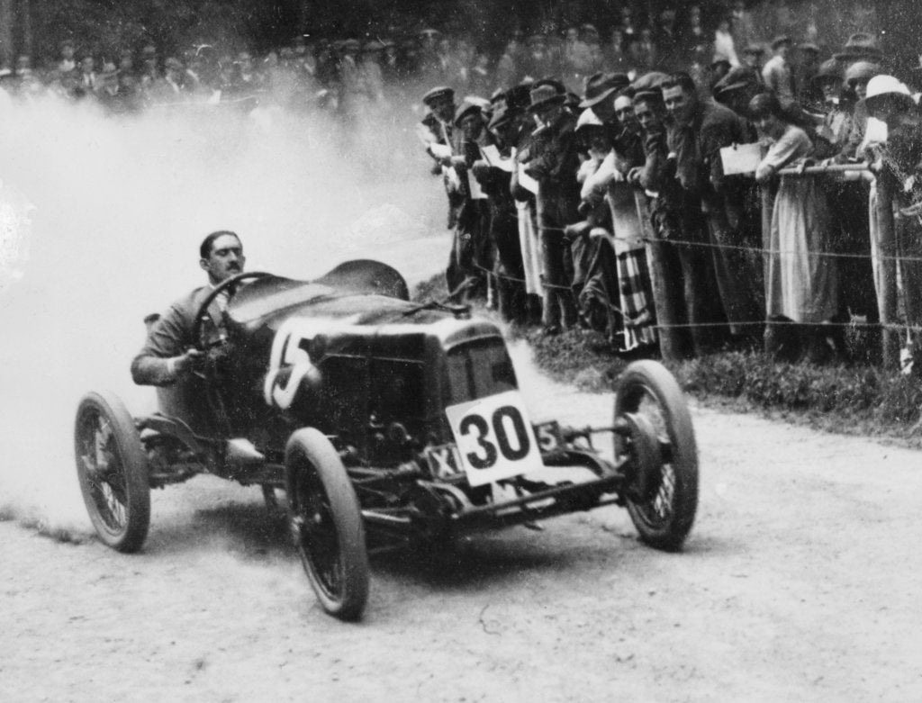 Zborowski driving a 1922 Aston Martin 1.5 litre 'Strasbourg' at Shelsey Walsh, (1922?)