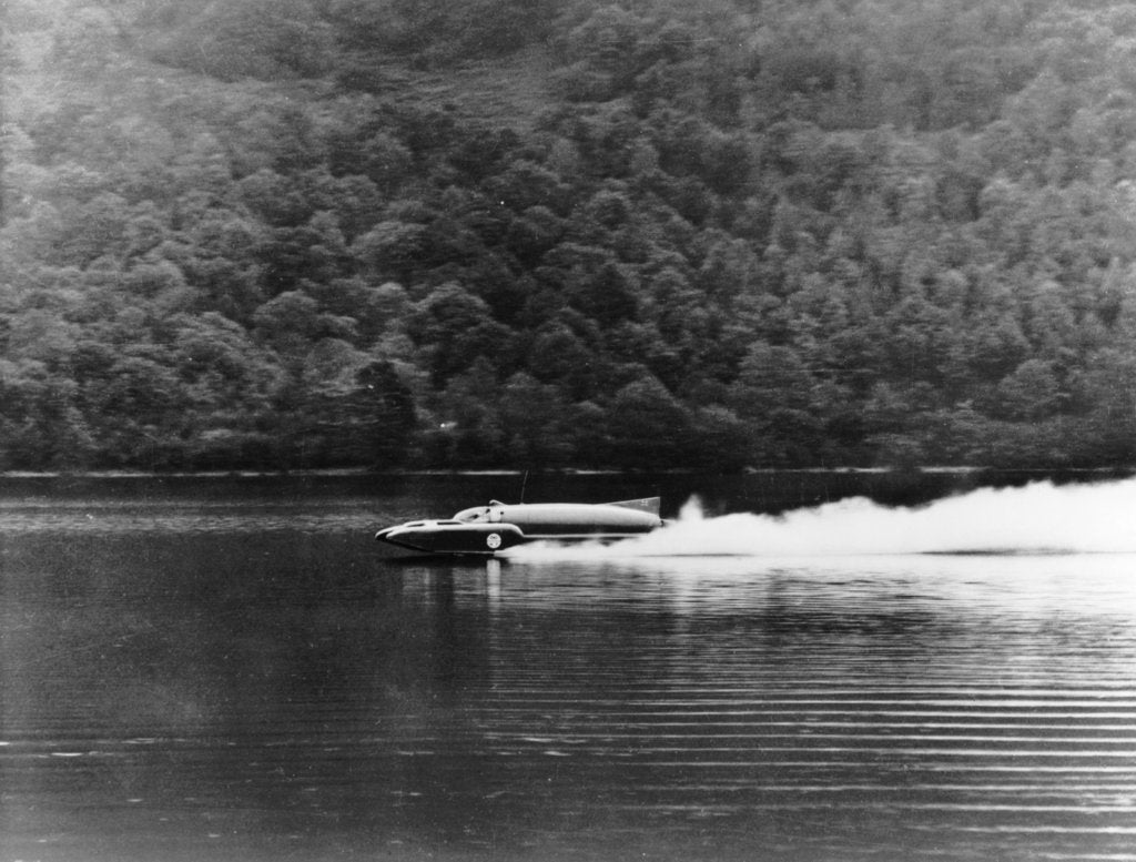 Bluebird on Coniston Water, Cumbria, November 1958