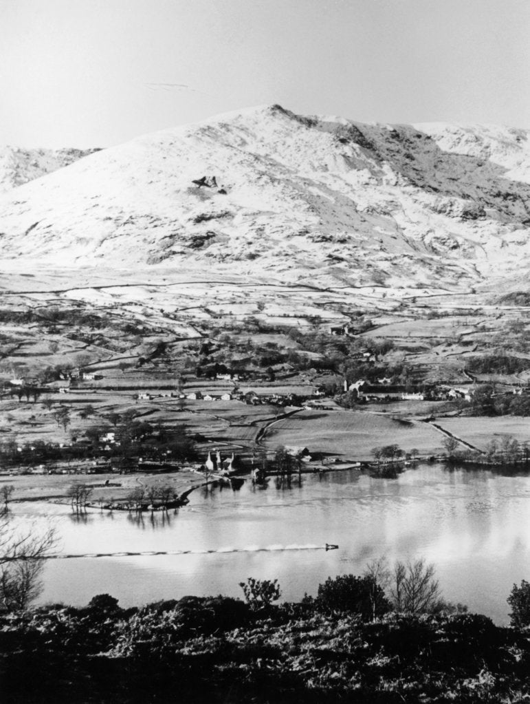 Bluebird K7 on Coniston Water, Cumbria, possibly Christmas Day, 1966