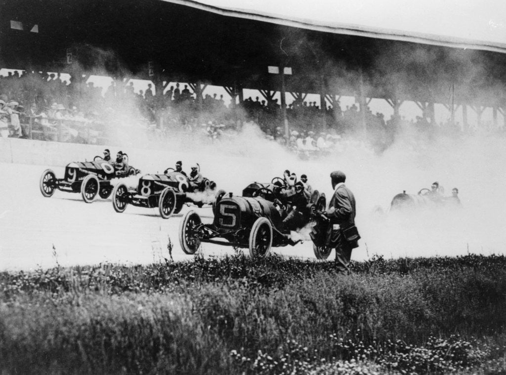 Detail of Indianapolis 500 Mile Race by Anonymous